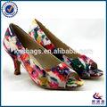 Fleur d'impression supérieure brésilienne chaussures pour femmes