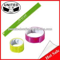 Slap bracelet with metal band, steel spring slap bands, slap band in your own logo