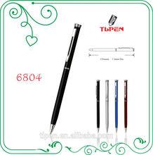 Twist metal ball pen slim metal hotel pen 6804