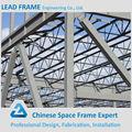 prefabricada de calibre ligero frp tragaluz de techo de acero estructura del espacio armadura para el taller