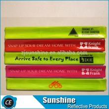 steel sheet reflective slap circle bracelet for promotion