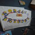 cartoon banner buon compleanno decorazione