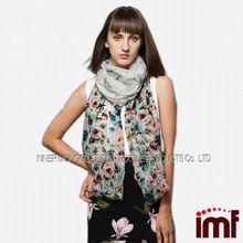 Pattern Pashmina Shawl/100% Wool Double Printed Shawl/Hand Printed Wool Shawl