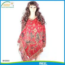 jacquard red pashmina,winter red shawl,fashion red wraps