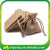 Hot sale cheap drawstring jute pouches wholesale