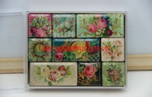 hot sale flower plastic fridge magnet