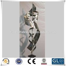 Grande de metal jardim escultura de aço inoxidável jardim esculturas para venda metal