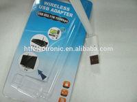 high speed 150M IEEE 802.11b/n/g plastic case mini wireless rj45 usb adapter network card brand