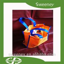 logo printed non woven folding tote bag