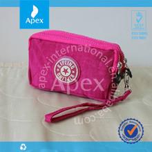 fashion branded women zipper lock tote bag coin bag