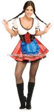 Woman Bavarian German Trachten Dirndl Dress Oktoberfest Costume QAWC-2419