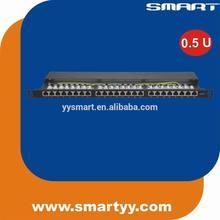 24 port krone Patch Panel CAT.6 19 Inch 1U FTP shielded 8p8c rj45 network CE/ROHS/REACH
