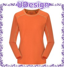 China manufacturer blank plain long sleeve t-shirts womens long sleeve dry fit sports t-shirts