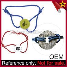 Wholesale Branded Logo Elastic Cord Bracelet with Custom Charm