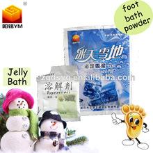 Profassional foot care commodity, jelly bath powder,bath foot snow mud