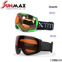 TPU frame, Anti-fog lens, Comfortable Back Foam Ski Google