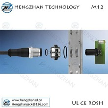 4pin M12 male connector,M12 straight male cable connector, waterproof M12 12pin connector
