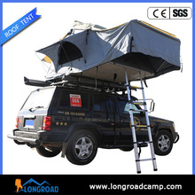 Windproof camping hard floor trailer awning tents