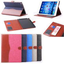 Jeans denim design leather case for iPad air 2