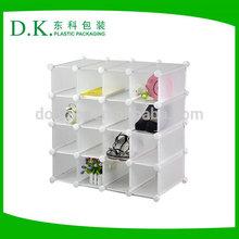 Plastic Interlocking Shoe Organizer 16 Compartments high quality