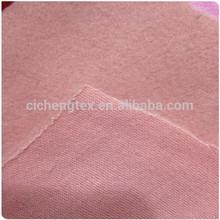 2015 top hot shaoxing cicheng brushed cvc pink flecce gray fabric