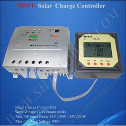 Charger controller solar 12V/24V 10A, MPPT regulator 10A, micro mppt solar charger