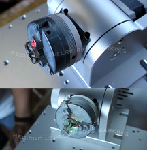 Laser ring marking rotary device jewelry