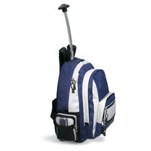 2014 fresh fashion solid blue color boys cool school trolley bag (PK-10617)