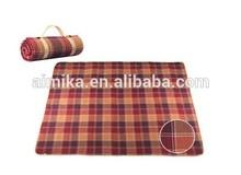 Large black membrane thickening three-layer composite premium suede picnic mat
