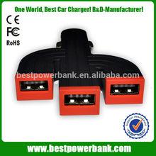 HC-C29 three port usb car charger,universal use three port usb car charger,5v/4.2a universal use three port usb car charger