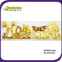 wholesale golden color resin christmas letter ornament QYS85142w