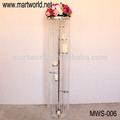 De alta calidad de cristal pilar para el evento, partido& de la boda; soporte de cristal de la boda para la decoración de mesa& sobre terreno( mws- 006)