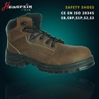 Slip resistant shoes factory wholesale men's crazy horse leather safety shoes work shoes