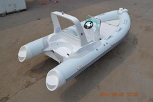 2014 mercury engine fiberglass inflatable boat with trailer