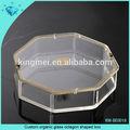 custom vidro orgânico octagon em forma de caixa de embalagem caixa de embalagem acrílica
