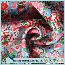 new design custom woven women dress printed spun rayon fabric