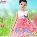 la moda de algodón de hadas smocked vestidos de los niños