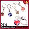 Custom Logo Metal Shopping Trolley Locker Coin Keyrings