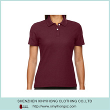 Custom fit 100% polyester dry fit material ladies polo t shirts/golf shirts