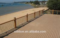 Wood plastic composite patio wpc decking