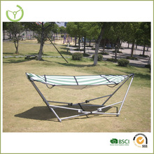 Outdoor folding hammock with canopy-fabric hammock with steel stand/garden swing chair