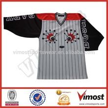 Lips and eyes ice hockey jersey for women custom hockey jersey