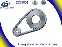Good quality chinese motorcycle chain and sprocket