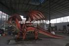 Theme Park Equipment life size Animatronic Fire Dragon