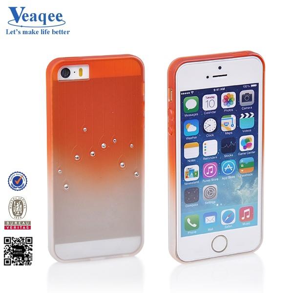 แฟชั่นสไตล์ธุรกิจveaqeeฝ้าที่มีสีสันtpuสำหรับกรณีiphone5sเช่นเค้ก