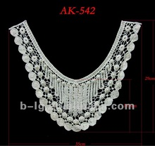 Bailange wholesale hot selling fashion cotton lace collar patterns clothing accessories for garment