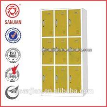9-door light color high quality beautiful color school steel locker