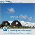 luz de acero para techos prefabricados de espacio de almacén marco cúpula de cobertizo