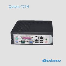 low cost mini computer windows 7 embedded,QOTOM-T27H single core mini computer price,windows xp mini computer x86