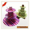 Personnalisé or gâteau de mariage stand unique titulaire de petit gâteau